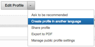 Create your LinkedIn profile in another language - Pauwels Consulting Job Application Academy