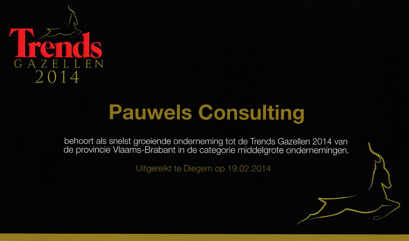 Pauwels Consulting - Trends Gazellen 2014