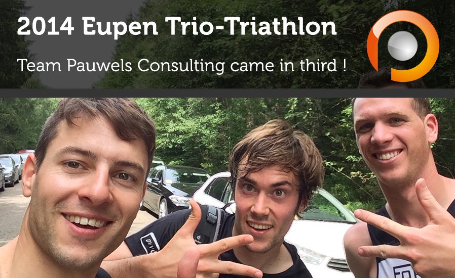 2014 Eupen Triathlon - Team Pauwels Consulting came in third
