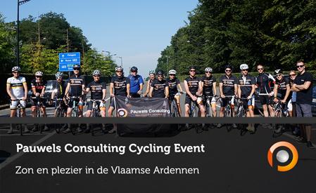 Pauwels Consulting Cycling Event - Zon en Plezier in de Vlaamse Ardennen