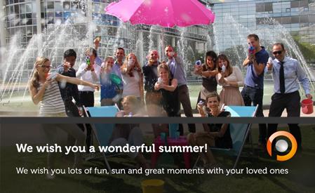 We wish you a wonderful summer (holiday)