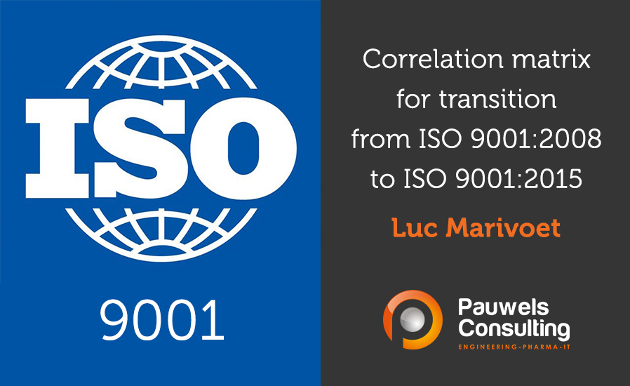 Correlation matrix for transition to ISO 9001-2015 - Pauwels Consulting