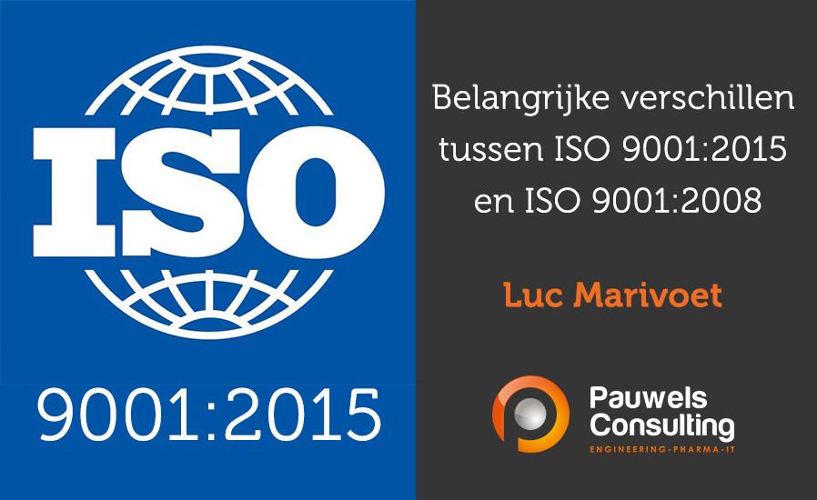 Belangrijke verschillen tussen ISO 9001:2015 en ISO 9001:2008