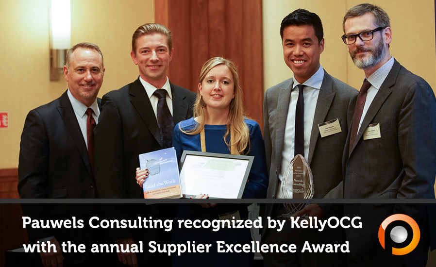 Pauwels Consulting Recognized by KellyOCG® as a Top Supplier