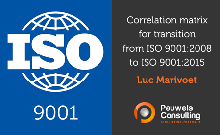 Correlation matrix for transition from ISO 9001-2008 to ISO 9001-2015 - Pauwels Consulting