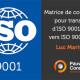 Matrice de corrélation pratique pour transition d'ISO 9001-2015 vers ISO 9001-2015 - Pauwels Consulting