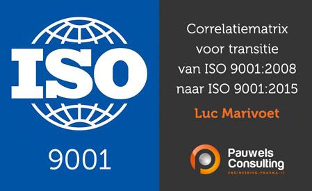 Correlatiematrix voor transitie naar ISO 9001-2015 - Pauwels Consulting