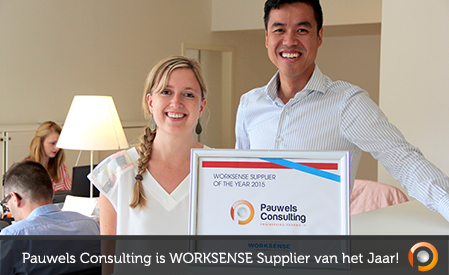 Pauwels Consulting - WORKSENSE Supplier of the Year 2015