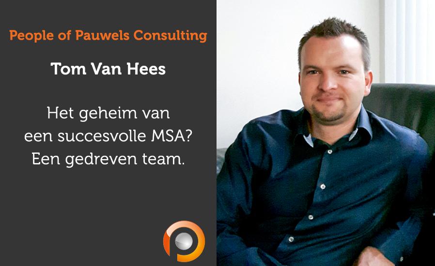Tom Van Hees, Senior Consultant Engineering Services bij Pauwels Consulting
