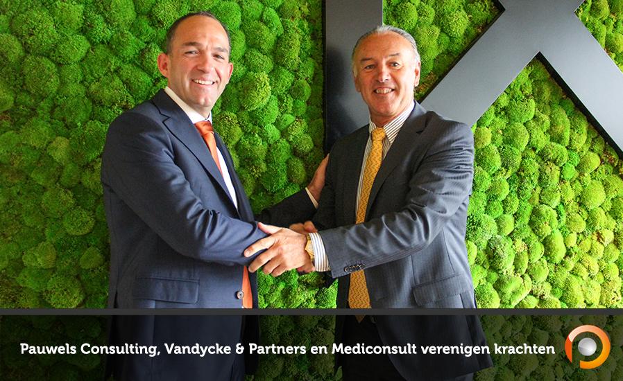 Pauwels Consulting, Vandycke & Partners en Mediconsult verenigen krachten