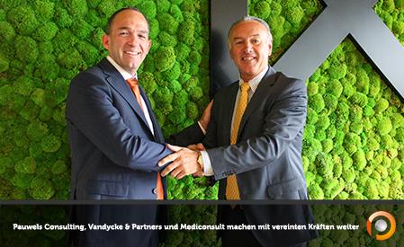 Pauwels Consulting, Vandycke und Partners und Mediconsult machen mit vereinten Kraften weiter - S