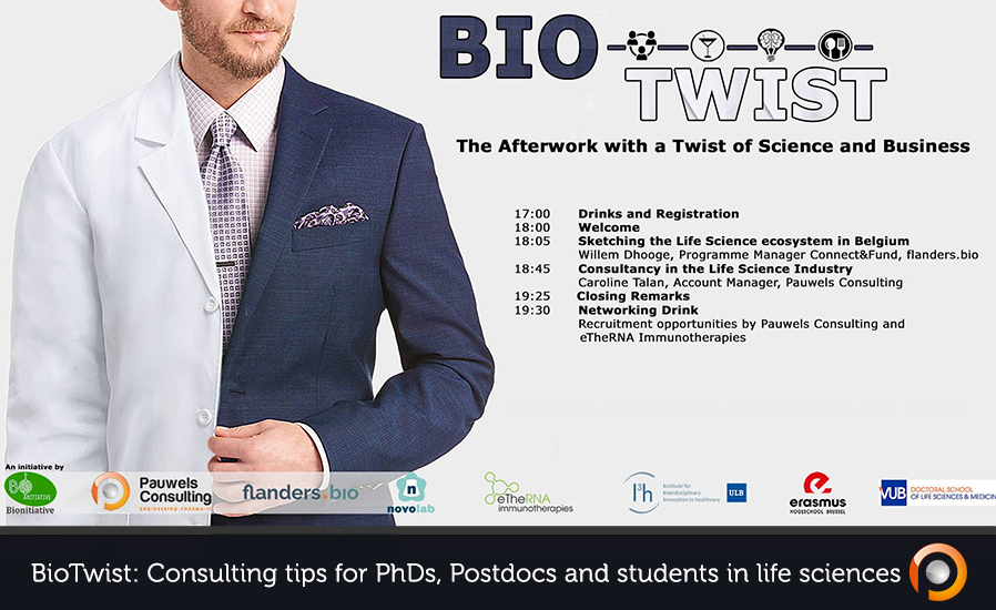 BioTwist - Consulting tips for PhDs, Postdocs and students in life sciences - Pauwels Consulting