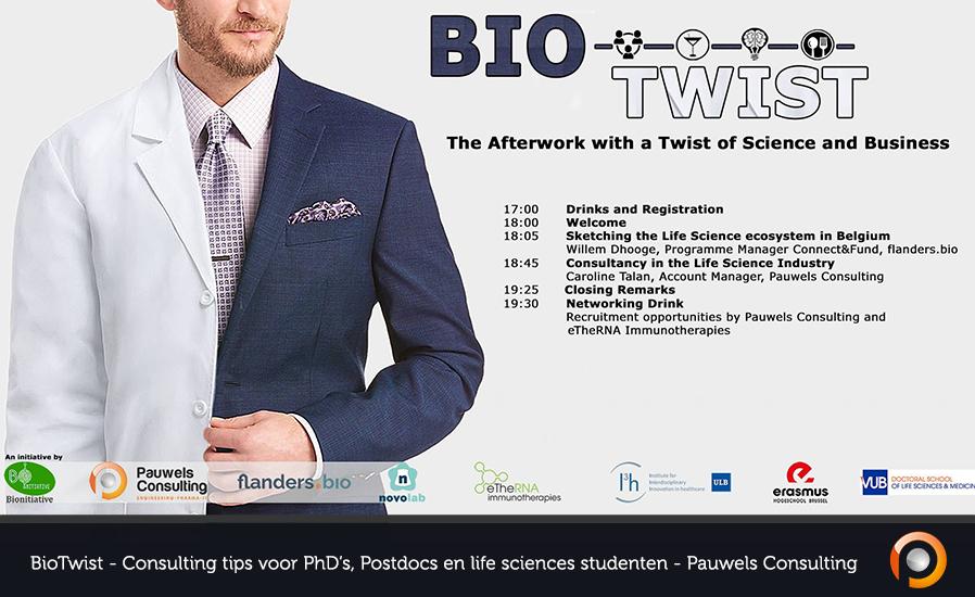BioTwist - Consulting tips voor PhDs, Postdocs en life sciences studenten - Pauwels Consulting